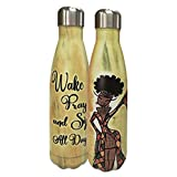 Shades of Color Wake Pray And Sip All Day, Stainless Steel Bottle (SSB150)