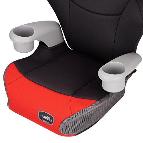 Evenflo Big Kid AMP High Back Booster Car Seat, Cardinal Red