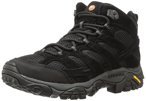 Merrell Men's Moab 2 Vent Mid Hiking Boot, Black Night, 10 2E US