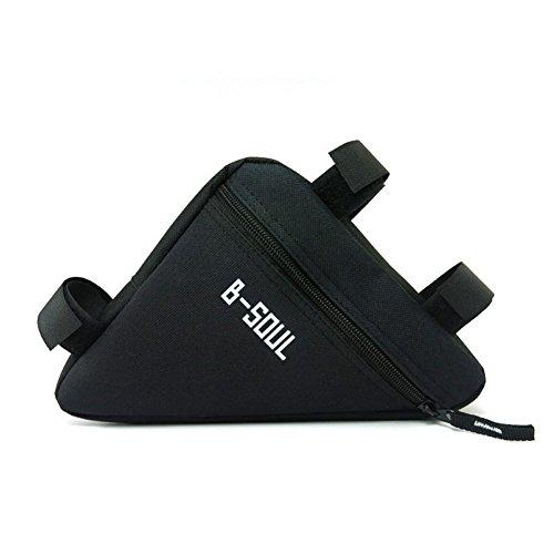 Qzc Bike Seat Pack Bike Bag Cycling Bicycle Frame Front Triangle Bag Bike Under Seat Top Tube Bag For Bike Tube Frame (Black)