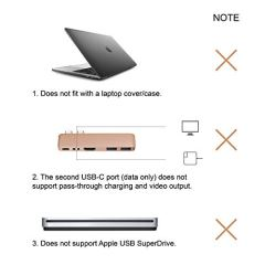 Purgo-Mini-USB-C-Hub-Adapter-Dongle-for-MacBook-Air-M1-2020-2018-and-MacBook-Pro-M1-2020-2016-with-4K-HDMI-100W-PD-40Gbps-TB3-5K60Hz-USB-C-and-2-USB-30-Gold