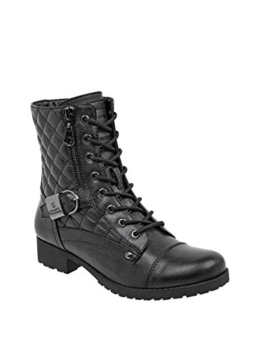 G by GUESS Women's Benjie Quilted Combat Boots Black