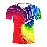 iSovze Men's Fashion Summer Style Print Short Sleeved Tees Multicolor T-Shirt