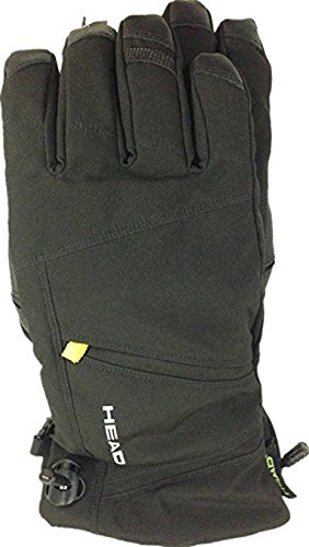 Head Men's DuPont Sorona Insulated Ski Glove With Pocket (Black/Lime,XL)