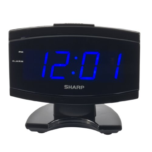 Sharp SPC106X LED Alarm Clock (Black)