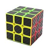 AHYUAN Professional Speed Magic Cube Carbon Fibre Stickers 3x3, Black
