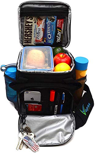 Large Insulated Lunch Bag for Men and Women with Room for More Meals and Snacks. Keeps Food Hot/Cold for 8h. Functional Lunch Box for Adults with More Pockets. Perfect for Your Work Lunches and More