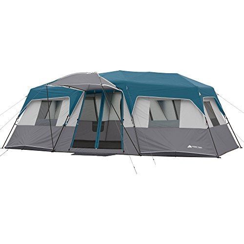 20' x 10' x 80' 12-Person Instant Cabin Family Tent 3-Room Layout with 2 Removable Room Dividers