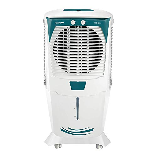 41P7vYwaFiL - Crompton Ozone 75-Litres Desert Air Cooler with Honeycomb Pads(White/Turquoise)