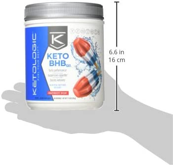 KetoLogic Keto BHB Exogenous Ketones Powder Supplement: Patriot Pop (60 Servings) - Boosts Ketosis, Increases Energy & Focus, Suppresses Appetite – Supports Keto Diet & Weight Management 10