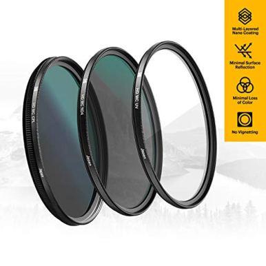 KODAK-49mm-Filter-Set-Pack-of-3-Premium-UV-CPL-ND4-Filters-for-Various-Photo-Enhancing-Effects-Absorb-Atmospheric-Haze-Reduce-Glare-Prevent-Overexposure-Slim-Multi-Coated-Glass-Mini-Guide