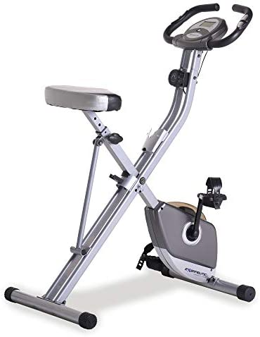 Exerpeutic Folding Magnetic Upright Exercise Bike with Pulse, 31.0' L x 19.0' W x 46.0' H (1200) 1
