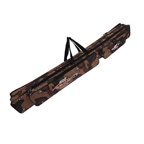 Sougayilang Folding Fishing Rod Case Organizer Pole Storage Bag Rod Reel Tackle Carrier Fishing Rod Bag Fishing Case-120cm/47in