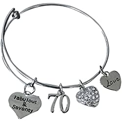 70th Birthday Charm Bracelet