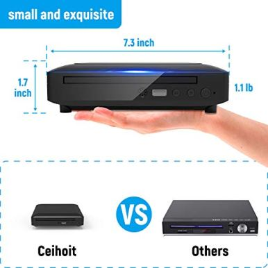 Mini-DVD-Player-DVD-CDDisc-Player-for-TV-with-HDMIAV-Output-HDMIAV-Cables-Included-HD-1080P-Supported-Built-in-PALNTSC-System-USB-Input