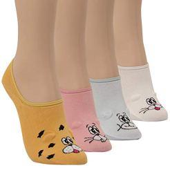 WOWFOOT-Women-Animal-Design-No-Show-Casual-Liner-Socks-Character-Print-Non-Slip-Flat-Boat-Line-4-Pair-4pair-cartoon-2