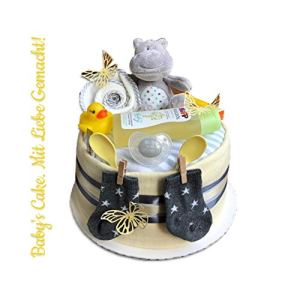 Nappy Cake Neutral > Gift for Birth Christening Baby Shower Gift for Newborn Christening Baby Shower for Girls and Boys 41PMw9W3saL