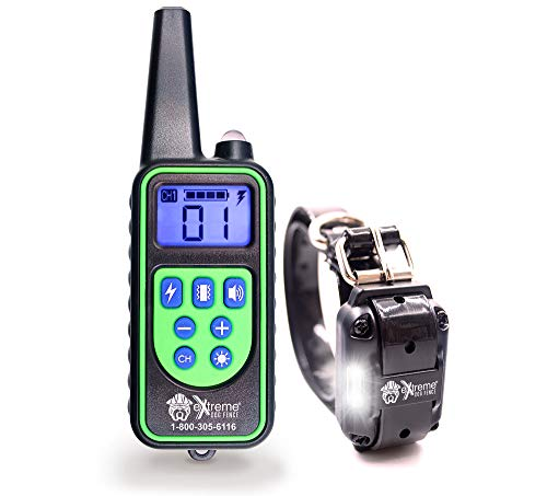 Remote Control Dog Shock Collar for Small Dogs or Big Dogs - 99 Levels Correction, Vibration, or Tone Only - Rechargeable Remote and Waterproof Collar Kit for 1 Dog
