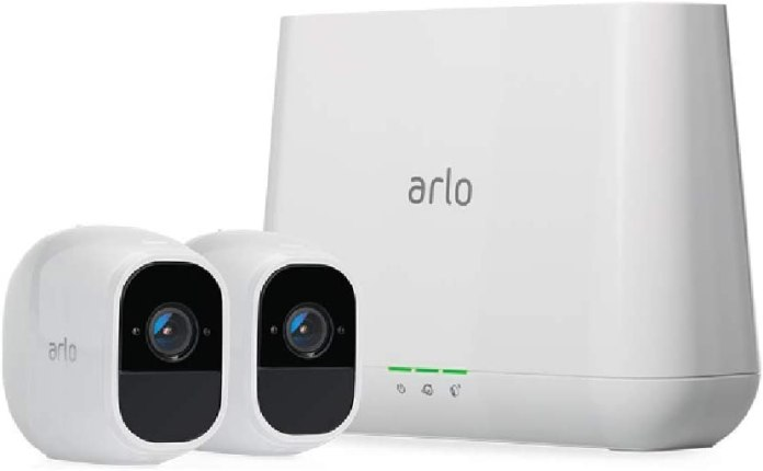Arlo Pro 2 - Wireless Home Security Camera System with Siren | Rechargeable, Night vision, Indoor/Outdoor, 1080p, 2-Way Audio, Wall Mount | Cloud Storage Included | 2 camera kit (VMS4230P)