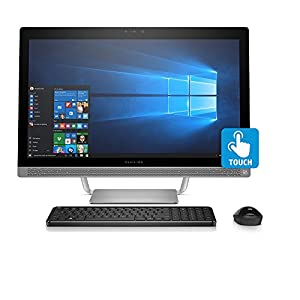 "2018 HP Pavilion 23.8"" All-in-One FHD IPS Touchscreen Desktop, Intel Quad-Core i5-6400T 8GB DDR4 1TB HDD DVDRW 2GB NVIDIA GeForce 930MX graphics B&O PLAY Sound WLAN HDMI RealSense Camera Win 10"