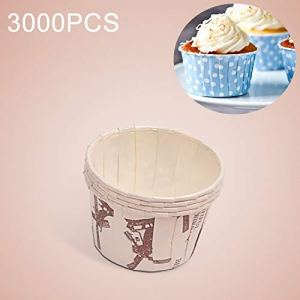 JIXIAO Mold 3000 PCS Windmill Pattern Round Lamination Cake Cup Muffin Cases Chocolate Cupcake Liner Baking Cup, Size: 5 x 3.8 x 3cm 41PUw zJtoL