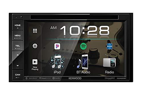 Kenwood DDX26BT Double DIN SiriusXM Ready Bluetooth in-Dash DVD/CD/AM/FM Car Stereo Receiver w/ 6.2' Touchscreen