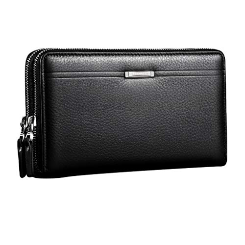 zitan Men's Genuine Soft Multi-Function Long Purse Mens Wallet Money Clip Business Waterproof Wallet