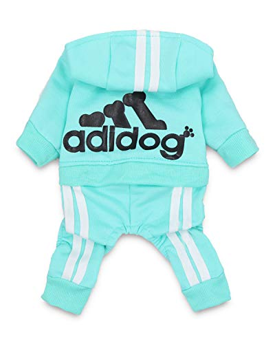 DroolingDog-Adidog-Dog-Clothes-Pet-Dog-Shirt-Puppy-Outfit-for-Small-Dogs-Medium-Green