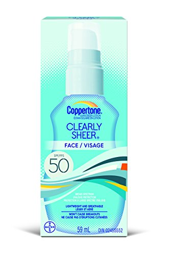 Coppertone Clearly Sheer Face Lotion SPF 50