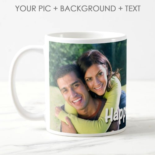 exciting Lives Personalised Photo Ceramic 325ml Coffee Mug(White)
