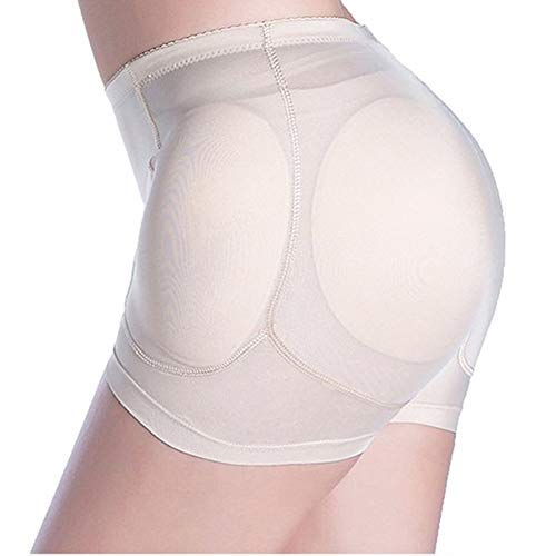 Women Butt Lifter, 4 Pads Shapewear Enhancer Control Panties Body Shaper Underwear (2XL, Khaki)
