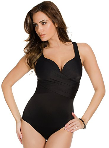 41Pe1I7uzIL Miraclesuit Swimwear Size Guide Put your best body forward in Miraclesuit® swimwear. Solid tank swimsuit highlights the bust and defines the waist.