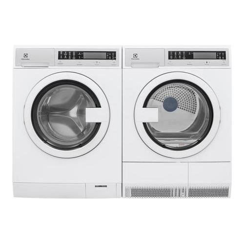 Electrolux White Compact Front Load Laundry Pair with EFLS210TIW 24' Washer and EFDE210TIW 24' Electric Dryer