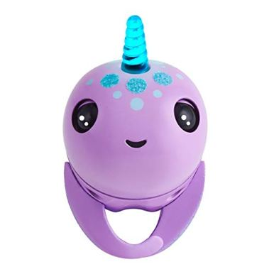 WowWee-Fingerlings-Light-Up-Narwhal-Nelly-Purple-Friendly-Interactive-Toy