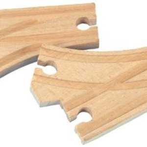 Maxim Toy Train Wooden Curved Switch Track (2 Pieces) : 50907 41PiJO5uFnL