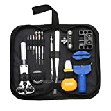 Pestelley Watchmaker Tool, Watch Tool Set with Professional Adjustable Housing Opener Professional Tool Set (Black, 13pcs)