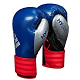 adidas Hybrid 75 Boxing Gloves, Blue/Red, 12 oz