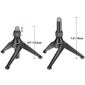 Neewer-Foldable-Iron-Mini-Desktop-Microphone-Tripod-Stand-Adjustable-Height-49-75-inches125-19-centimeters-for-Lectures-Podcasts-Online-Chat-Meeting-Screencasts-and-More-NW-050