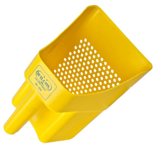 Yellow Sifting Scoop with 1/4' Holes
