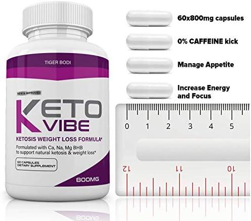 (3 Pack) Keto Vibe Pills for Weight Loss Formula, Keto Vibe Supplements Melt Fat Fast 800mg, Keto Viber for Women Men Capsules BHB, Complete Ketogenic Diet, BHB Ketones Slim Pills for Energy, Focus 4