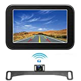 Wireless Backup Camera with Monitor System 5'' LCD Wireless Monitor Rearview Revering Rear View Back up Camera for Backing Parking Small Car 12V Only Camecho