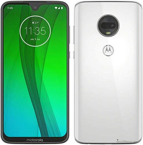 "Motorola Moto G7 (64GB, 4GB RAM) Dual SIM 6.2"" 4G LTE (GSM Only) Factory Unlocked Smartphone International Model XT1962-4 (Clear White)"