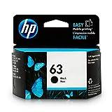 HP 63 Black Ink Cartridge (F6U62AN) for HP Deskjet 1112 2130 2132 3630 3632 3633 3634 3636 3637 HP ENVY 4512 4513 4520 4523 4524 HP Officejet 3830 3831 3833 4650 4652 4654 4655