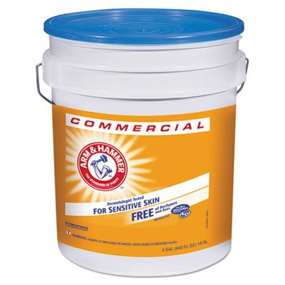 HE Compatible Liquid Detergent, Unscented, 5 Gallon Pail, 1/Case, Lot of 1