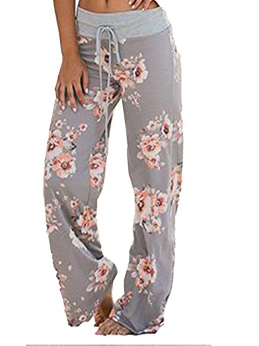 41Q9T9MR Cotton and Polyester,Comfortable to wear Feature:wide leg pants with drawstring,floral print,comfy and stretchy Lounge Pjs pants for a cute look Comfy, soft and stretchy sleep night Lounge Pants,Adjustable drawstring waistband for added comfort