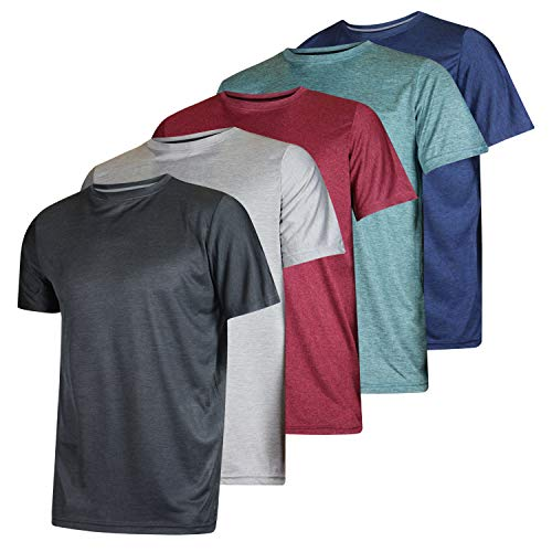 5 Pack: Men's Dry-Fit Moisture Wicking Active Athletic Performance Crew T-Shirt 14 Fashion Online Shop gifts for her gifts for him womens full figure