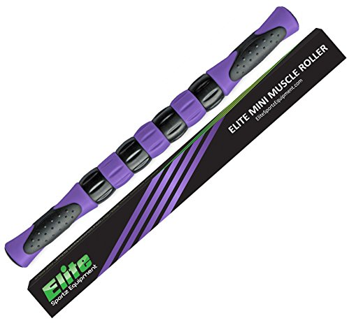 Elite Massage Roller Stick Targets Sore, Tight Leg Muscles to Prevent Cramps and Release Tension. It's Sturdy, Lightweight, Smooth Rolling and Thankfully This Lifesaver has Comfortable Handles.Purple