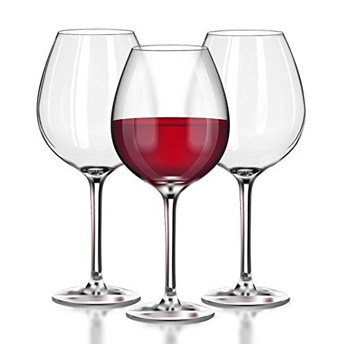 Unbreakable Red Wine/Pinot Noir clear Plastic glasses - 100% Tritan Dishwasher-safe, shatterproof wine glasses - Smooth Rims -Set of 4 (22oz Stemmed Red) by TaZa