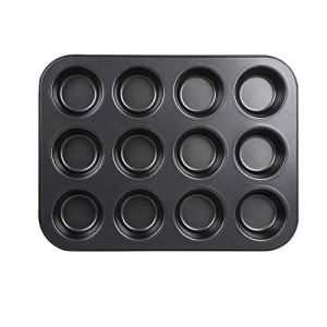 Carbon Steel Baking Mold 12 Holes Non-Stick Cake Mold Mini Cake Mold/Continuous Mold Muffin Non-Stick Coated Baking Sheet 41QLa2AL 2BfL