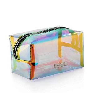 b073f540a934 Holographic Makeup Bag Iridescent Cosmetic Bag Hologram Clutch Large  Toiletries Pouch Holographic Handy Makeup Pouch Wristlets Organizer Women  Evening Bag